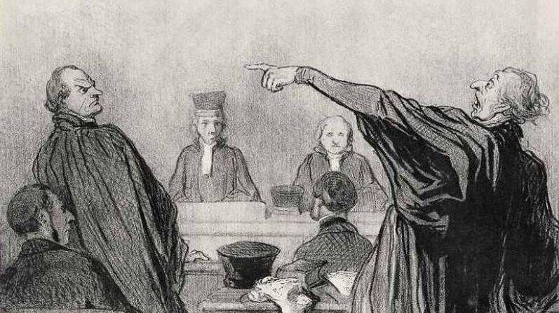 Оноре Викторен Домье. Состязательный процесс. 1845 год