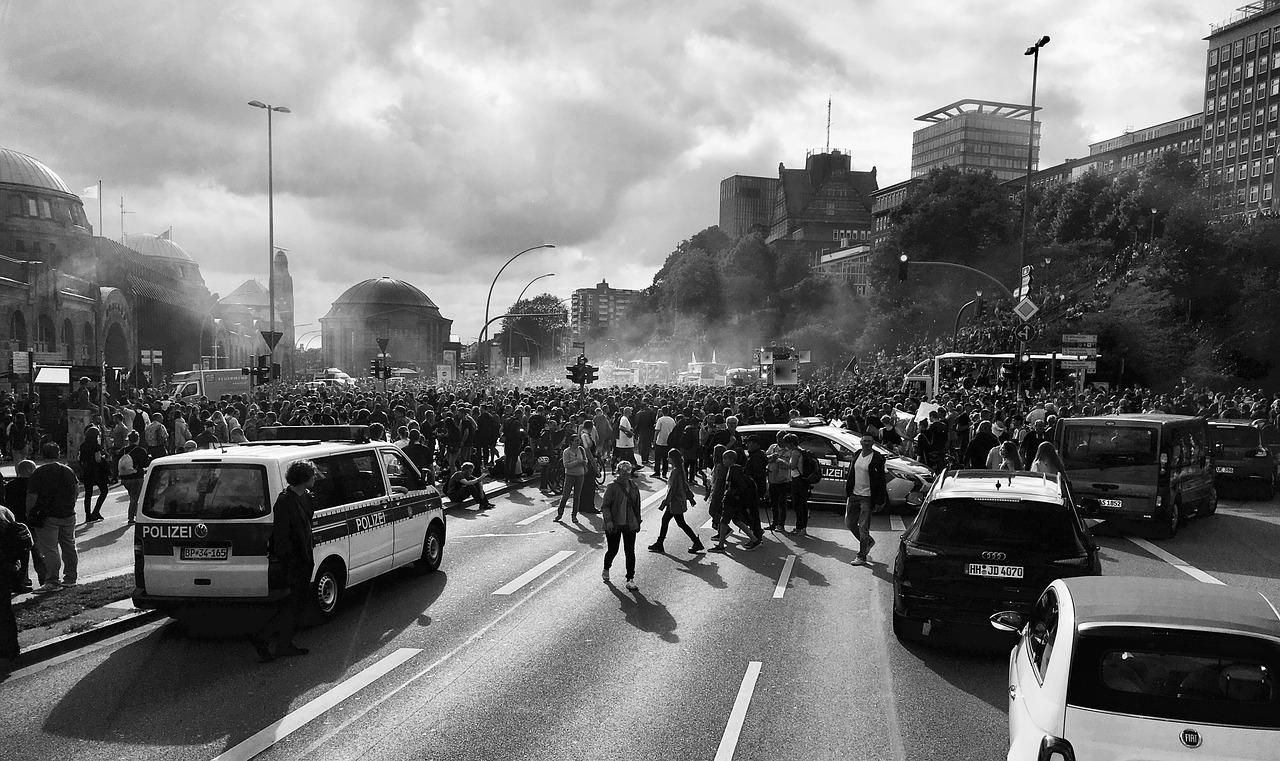 Демонстрация в Гамбурге [(cc) Tama66]