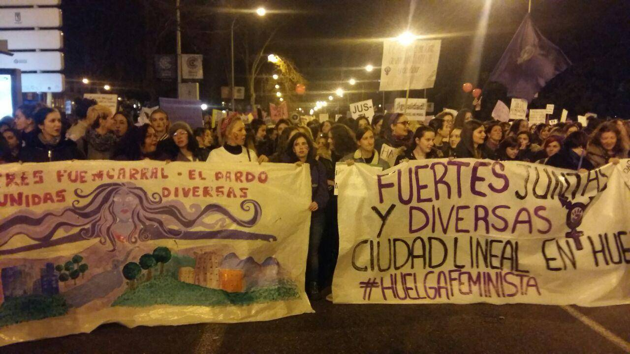 Мадрид. Манифестация 8 марта 2019 г.