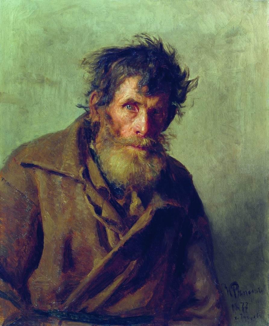 Илья Репин. Мужичок из робких. 1877
