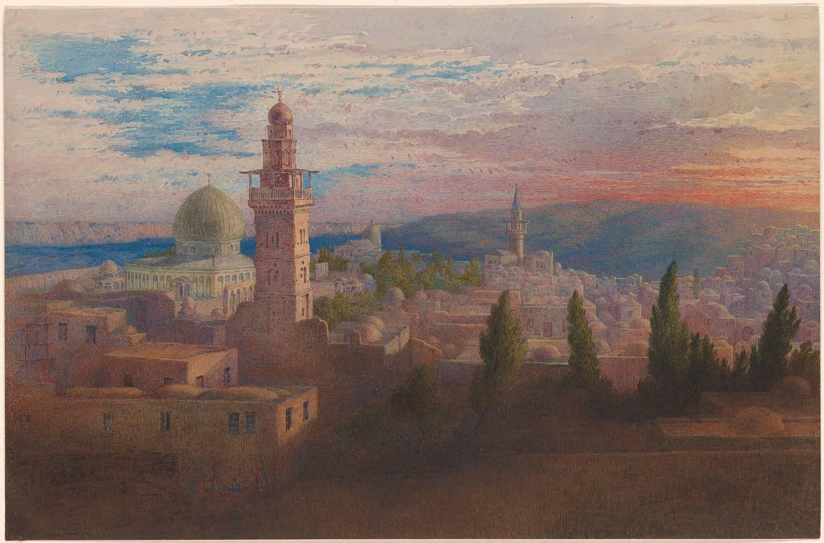 Ричард Дадд. Вид на Иерусалим. 1842–1843