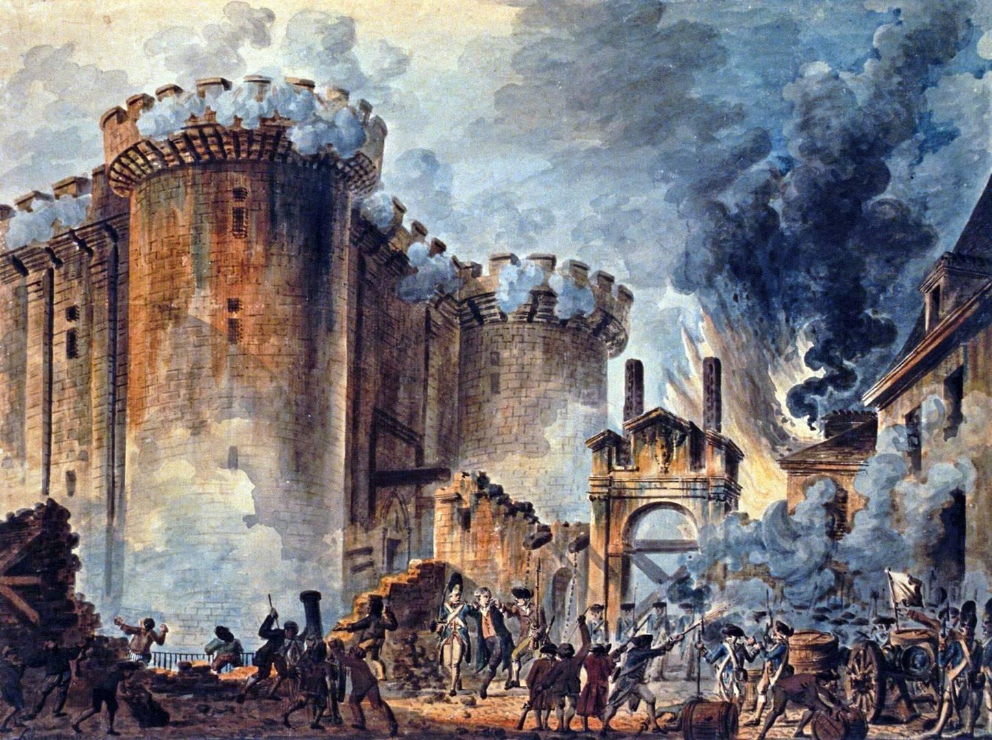 Жан-Пьер Уэль. Взятие Бастилии. 1789