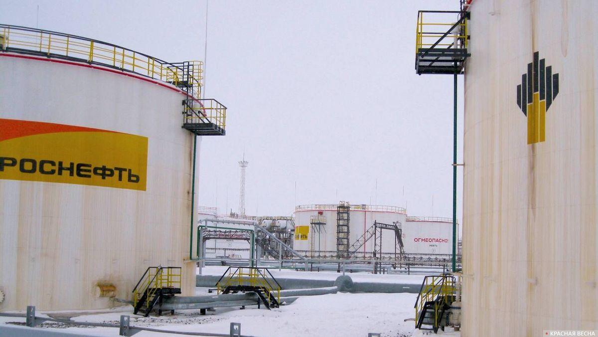 Площадка хранения нефти