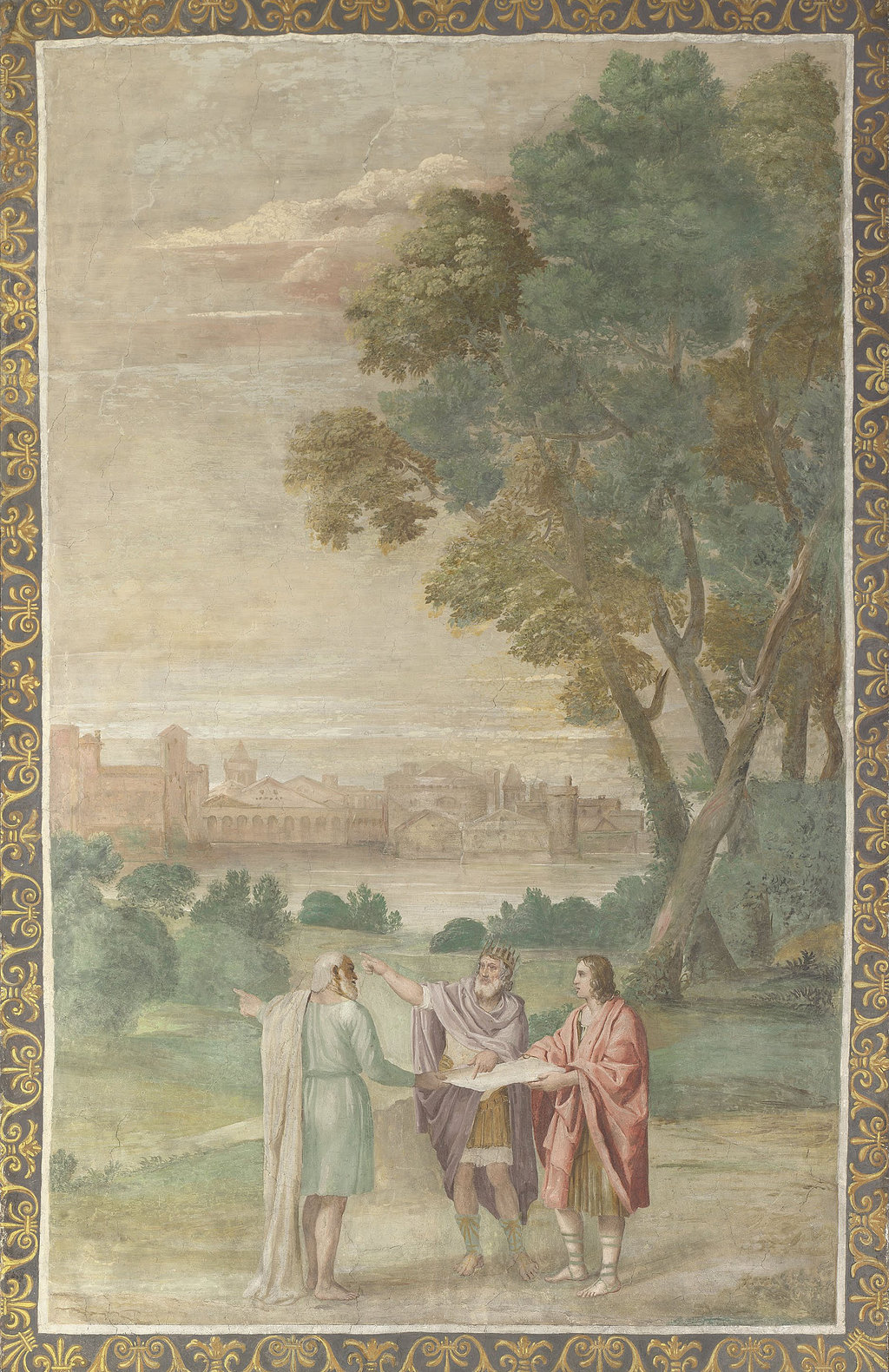 Доменикино и его помощники. Аполлон и Нептун советуются с Лаомедонтом. 1616–1618 гг.