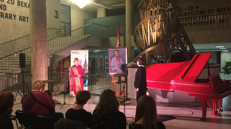 Мероприятие передачи картины «портрет Евтушенко» кисти Бориса Биргера