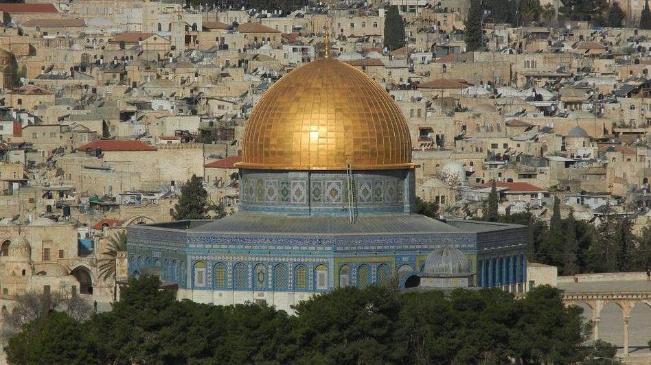 Мечеть Купол Скалы на Храмовое горе в Иерусалиме