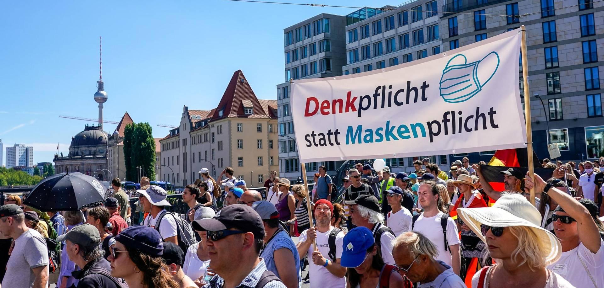 Демонстрация Querdenken в Берлине
