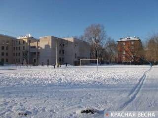 Всё, что осталось от школьного стадиона, Вологда