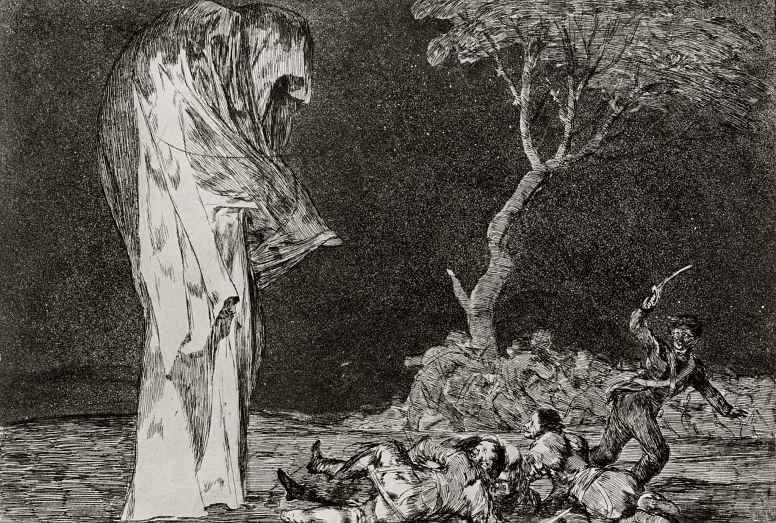 Франсиско де Гойя. Глупость страха. 1819