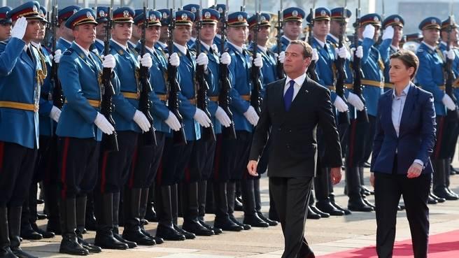 Прибытие в Сербию Дмитрия Медведева
