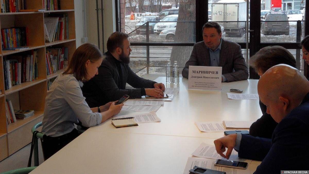 Пресс-конференция Дмитрия Мариничева в творческом индустриальном кластере «Октава» (Тула)