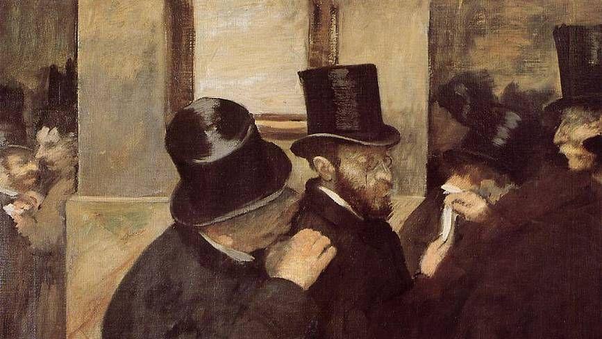 Эдгар Дега. На фондовой бирже (фрагмент). 1879 год