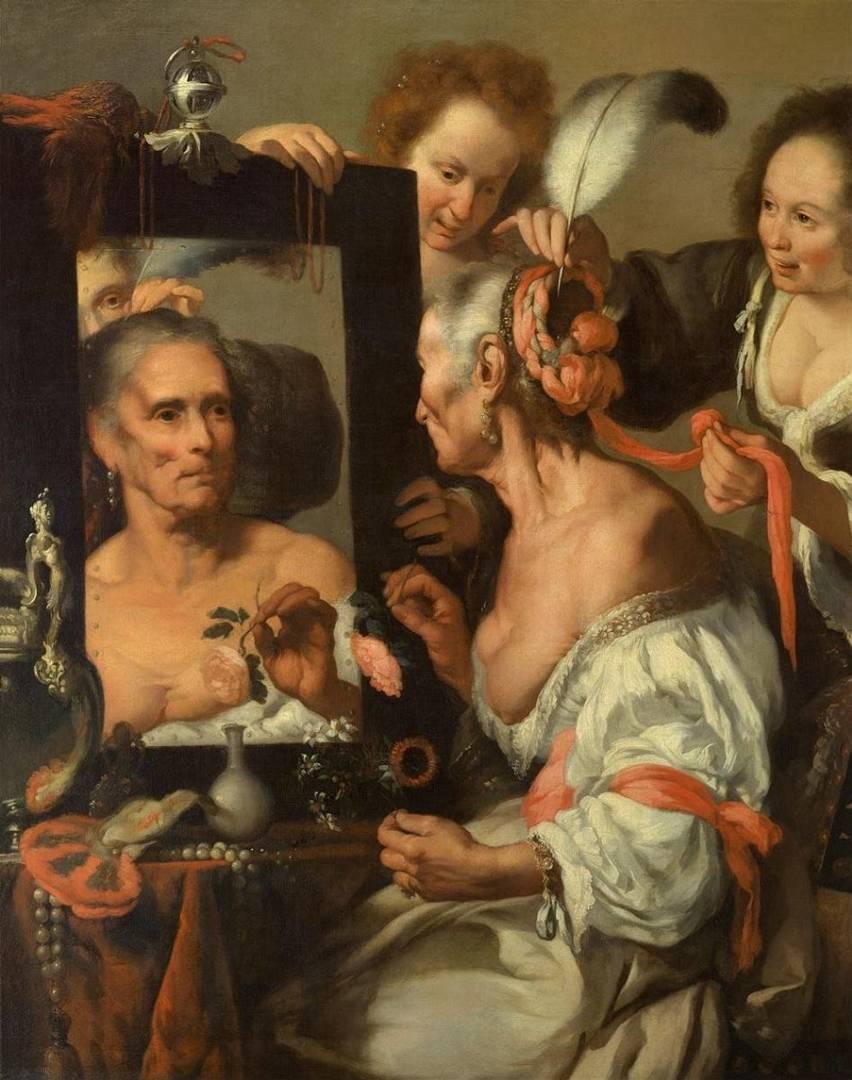 Бернардо Строцци. Старая кокетка. 1637
