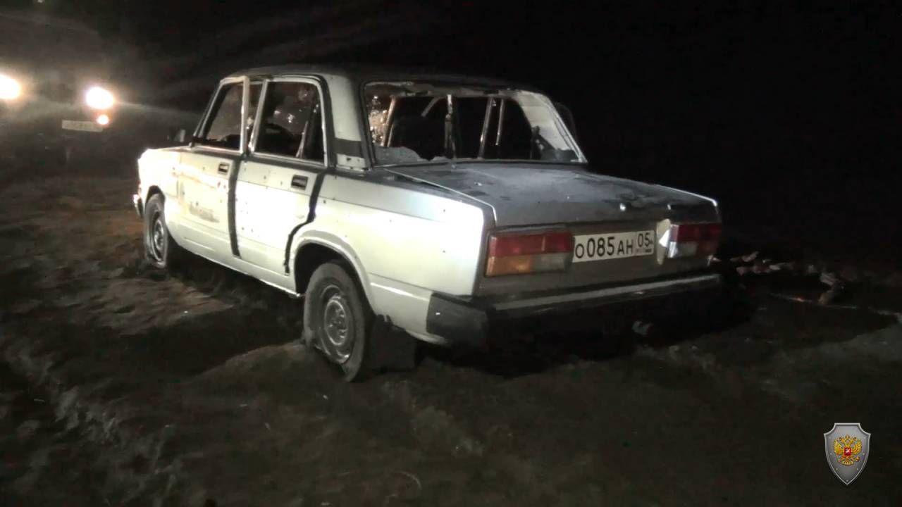 Автомобиль боевиков с места ликвидации