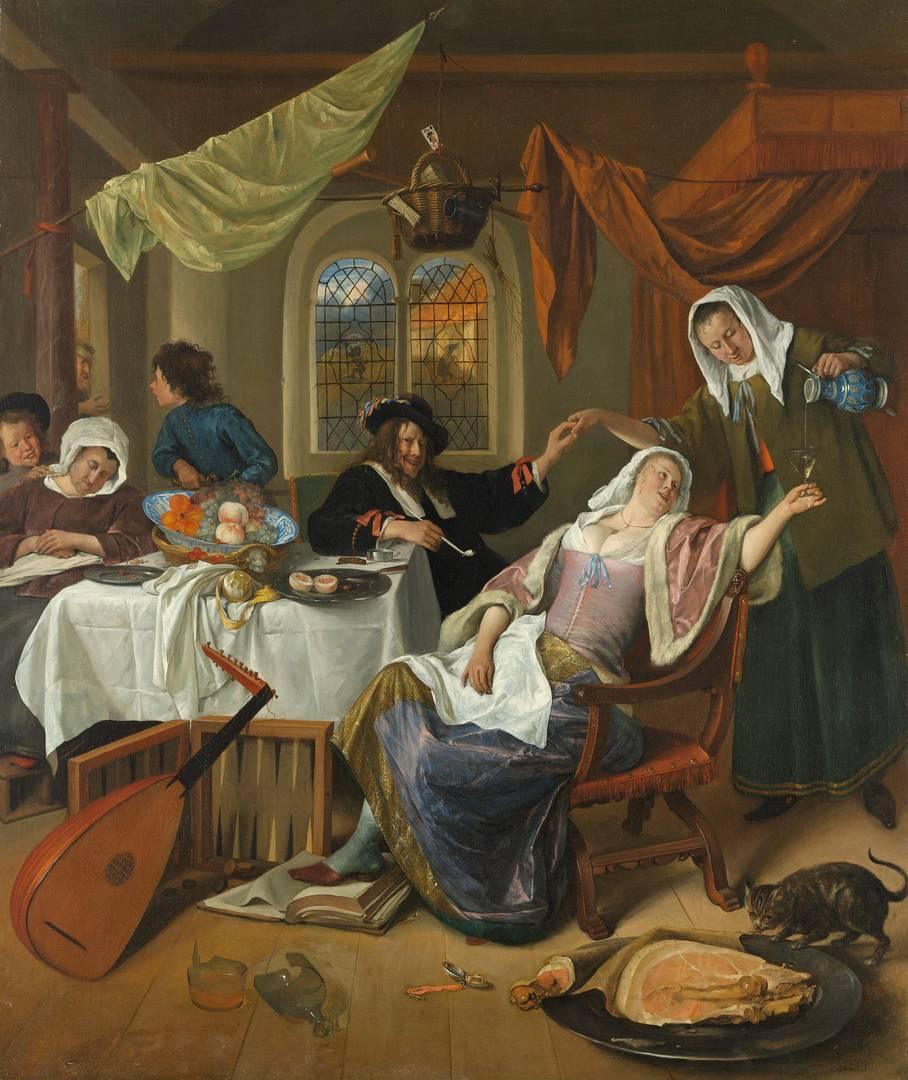 Ян Стин. Расстроенное хозяйство. Около 1663–1664