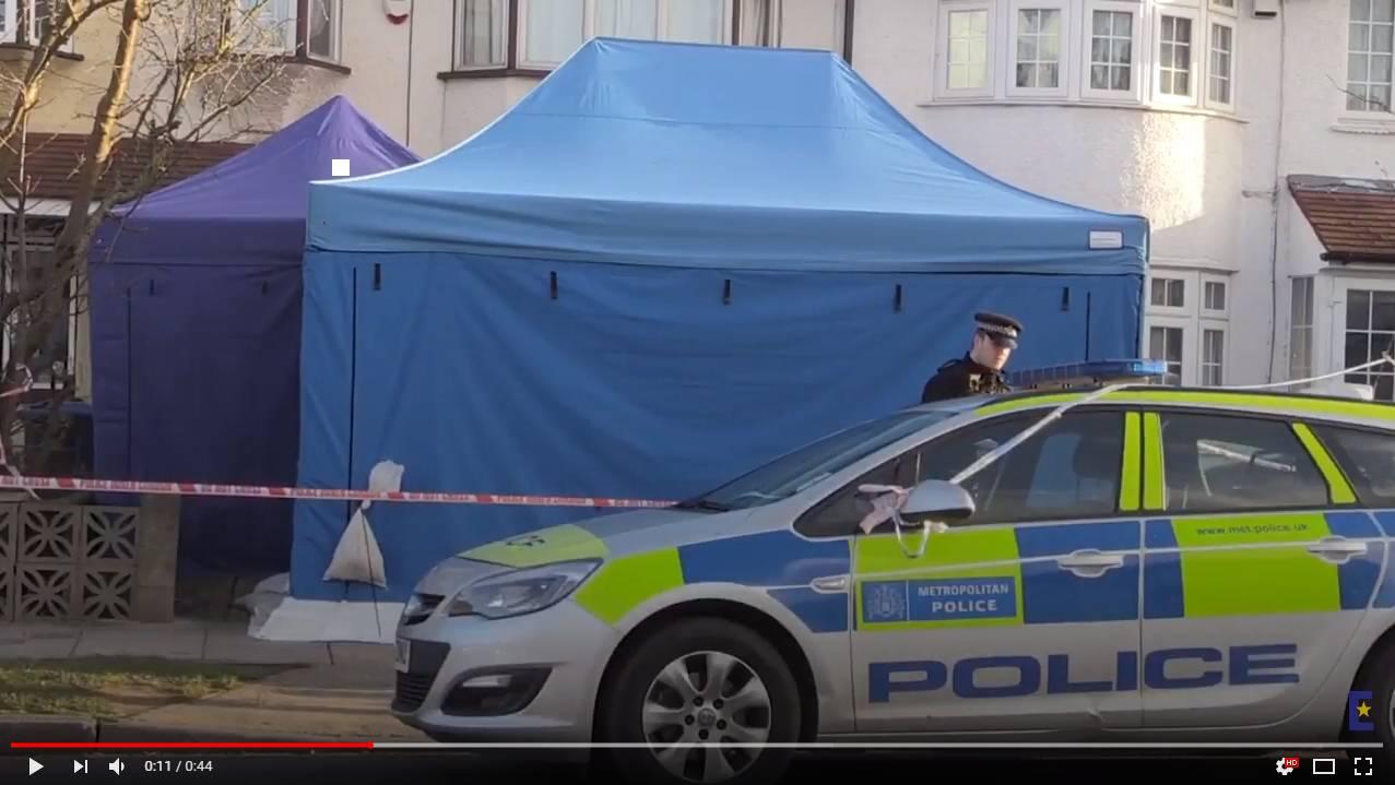 Британская полиция у дома Николая Глушкова