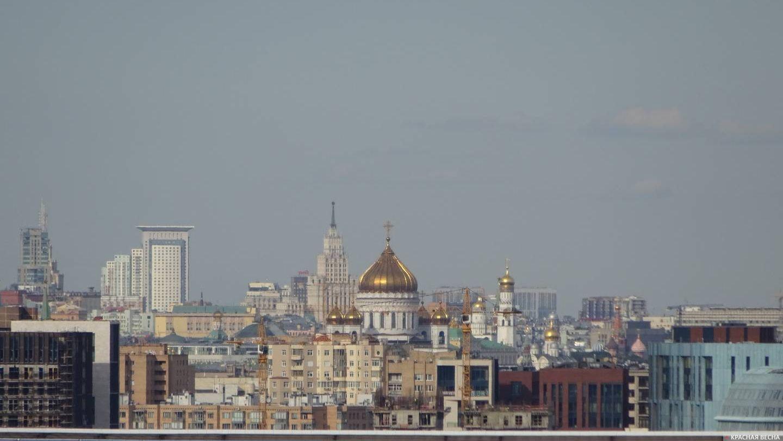 Центр Москвы – вид с Ленинских гор. 07.08.2017