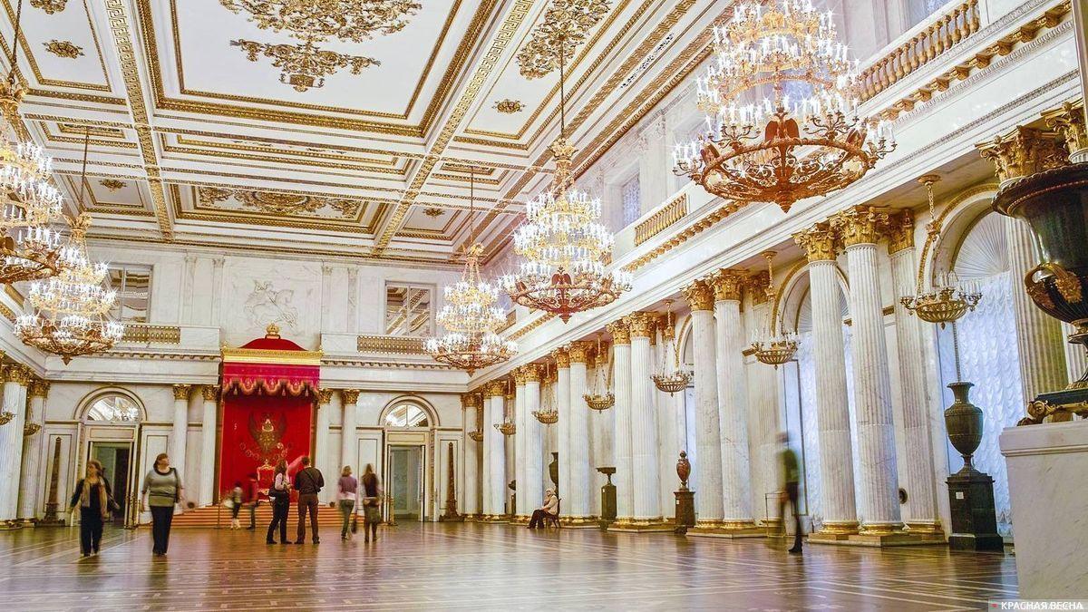 Эрмитаж. Георгиевский зал. Санкт-Петербург