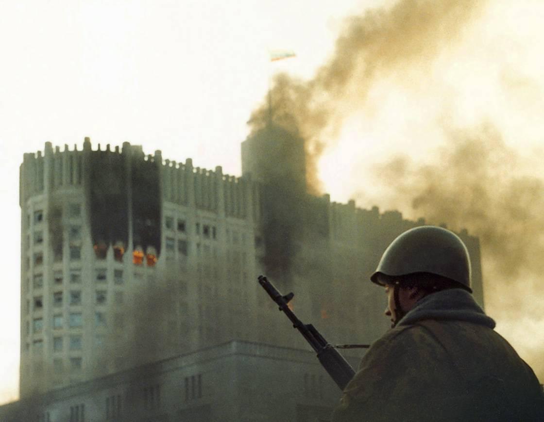 Дом Советов в октябре 1993 года