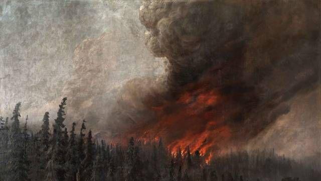 Алексей Денисов-Уральский. Лесной пожар. 1910