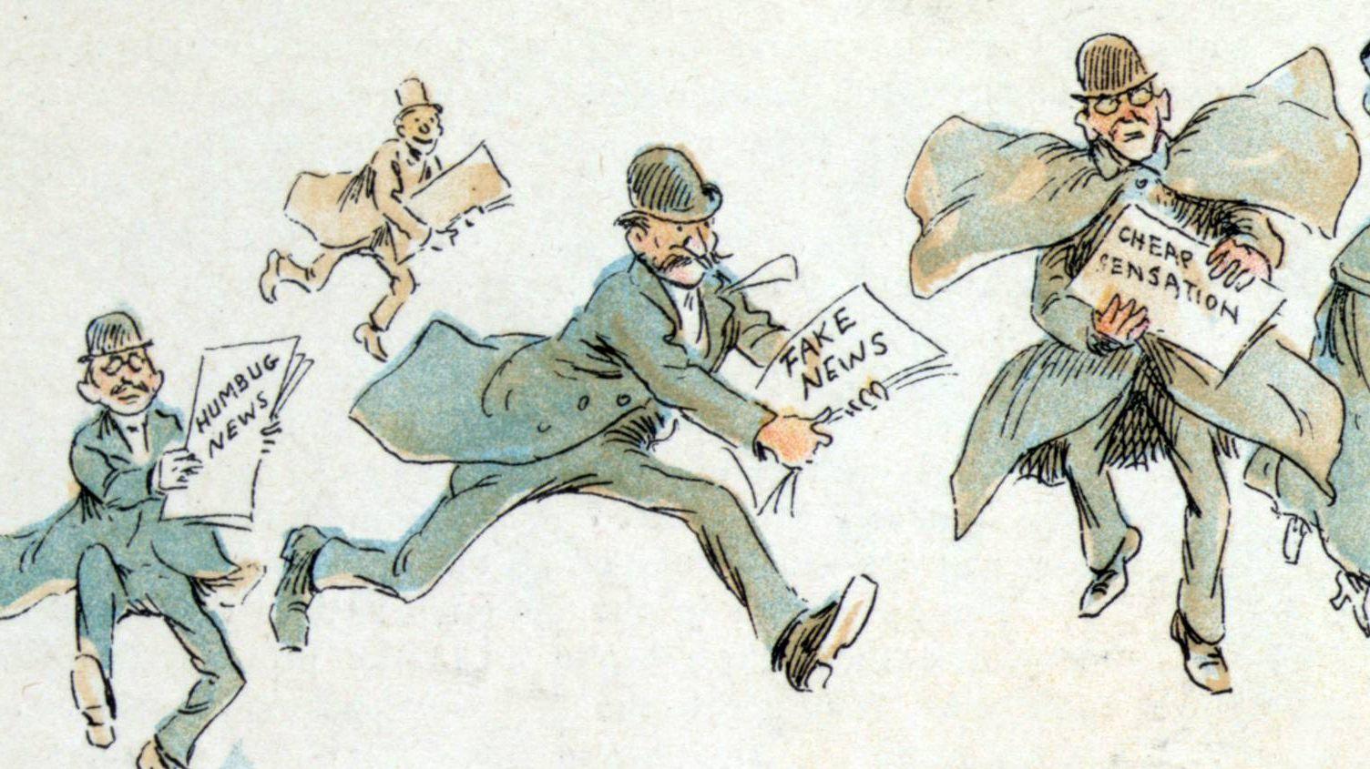 Фредерик Бурр Оппер. «Фейковые» новости. 1894
