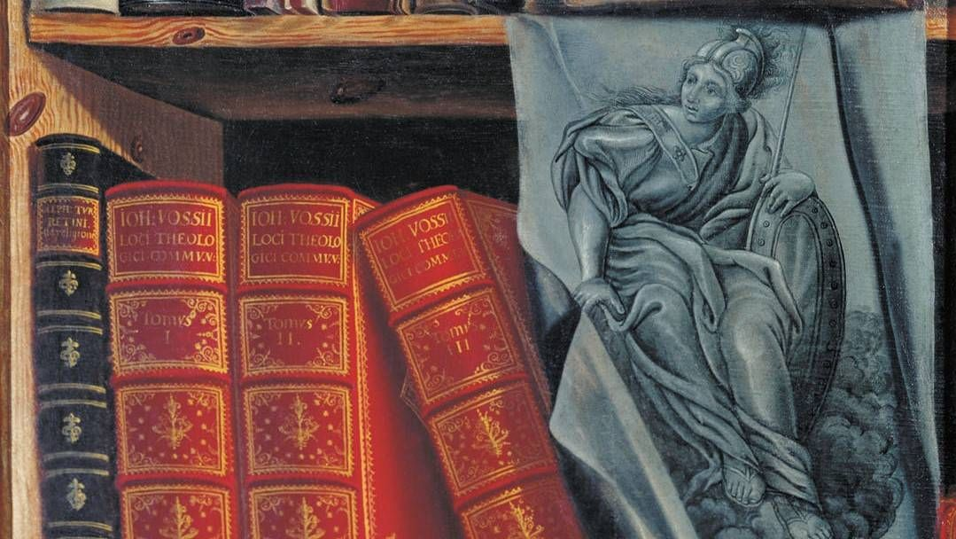 Петр Богомолов. Натюрморт с книгами (фрагмент). 1737 год