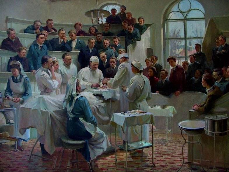 А.И. Куинджи. Показательная операция в клинике Пирогова.