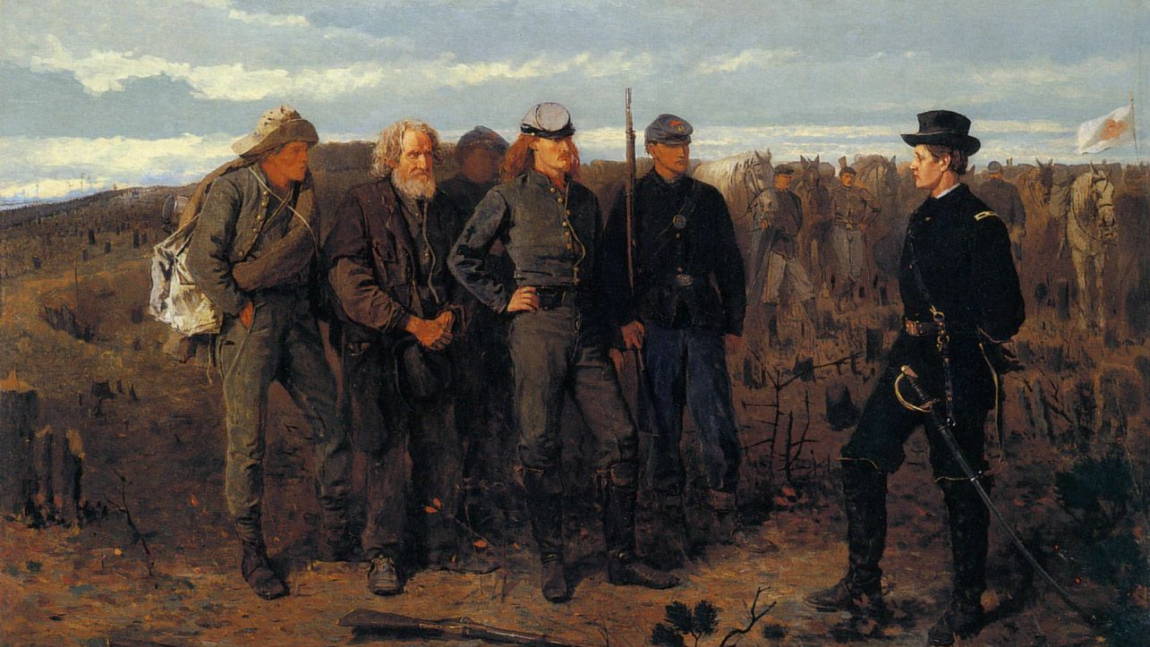 Уинслоу Хомер. Пленные с фронта. 1866