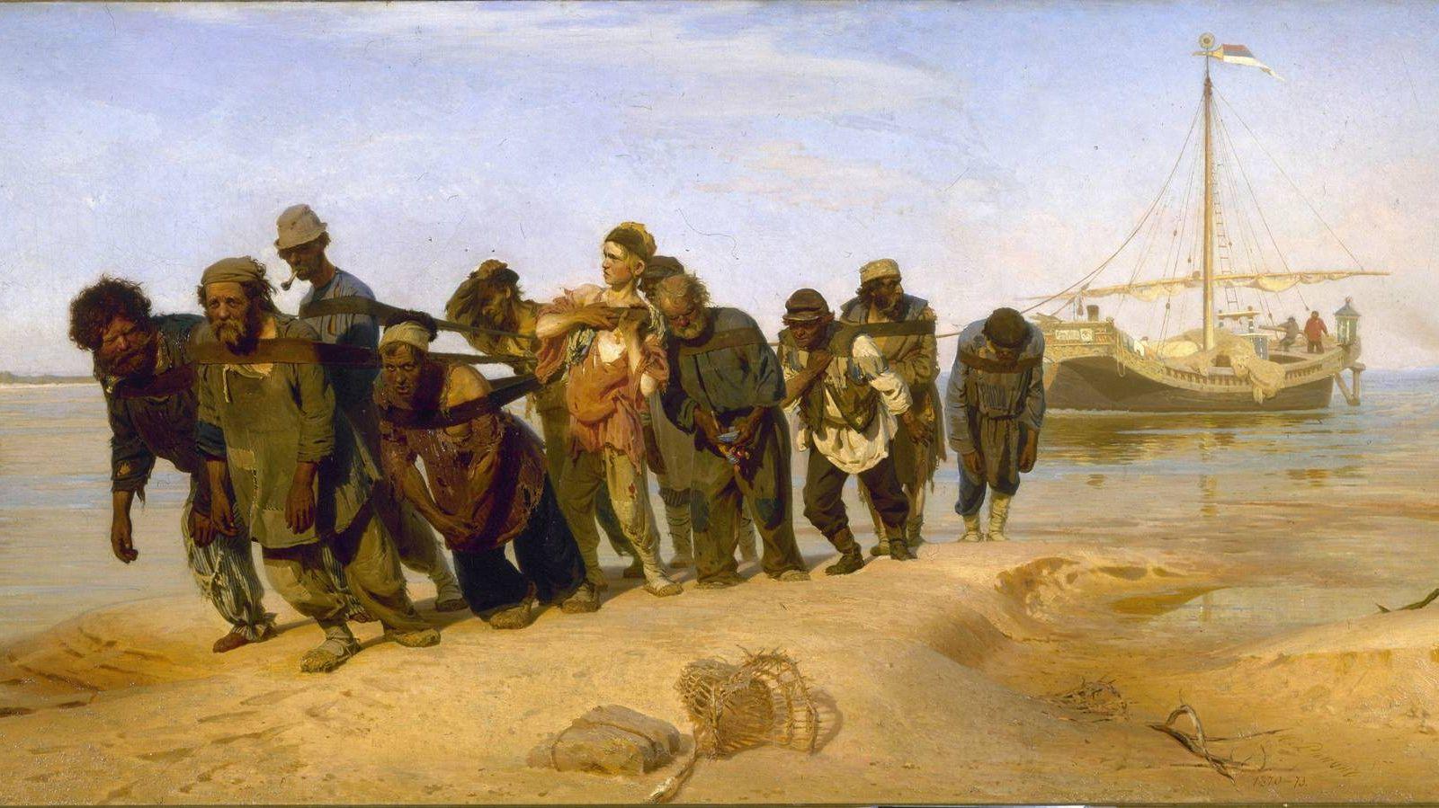 Илья Репин. Бурлаки на Волге. 1873
