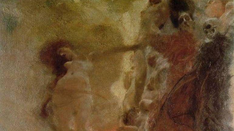 Густав климт. Медицина (фрагмент). 1887