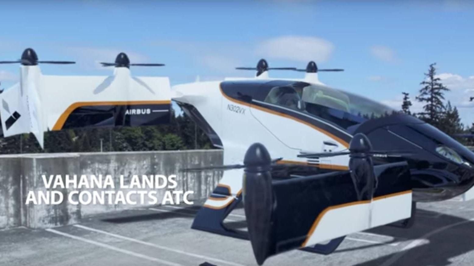 Vahana обнародовала видео первого полета беспилотного летающего такси