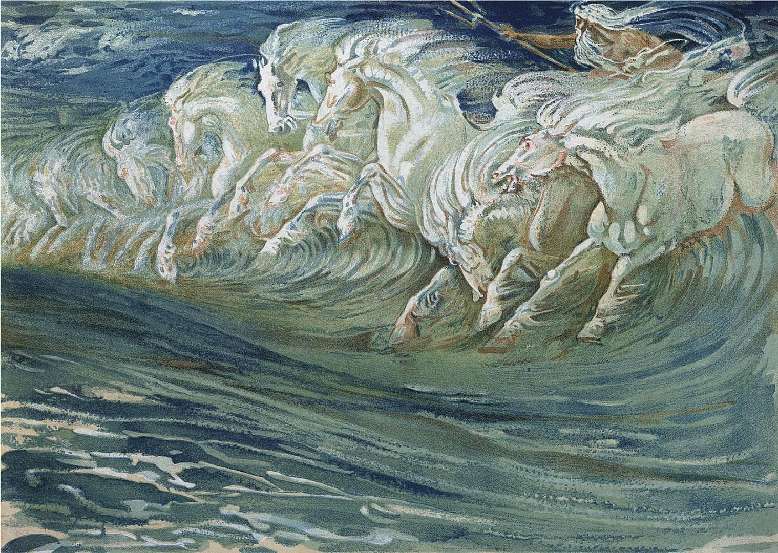 Уолтер Крейн. Кони Нептуна. 1910