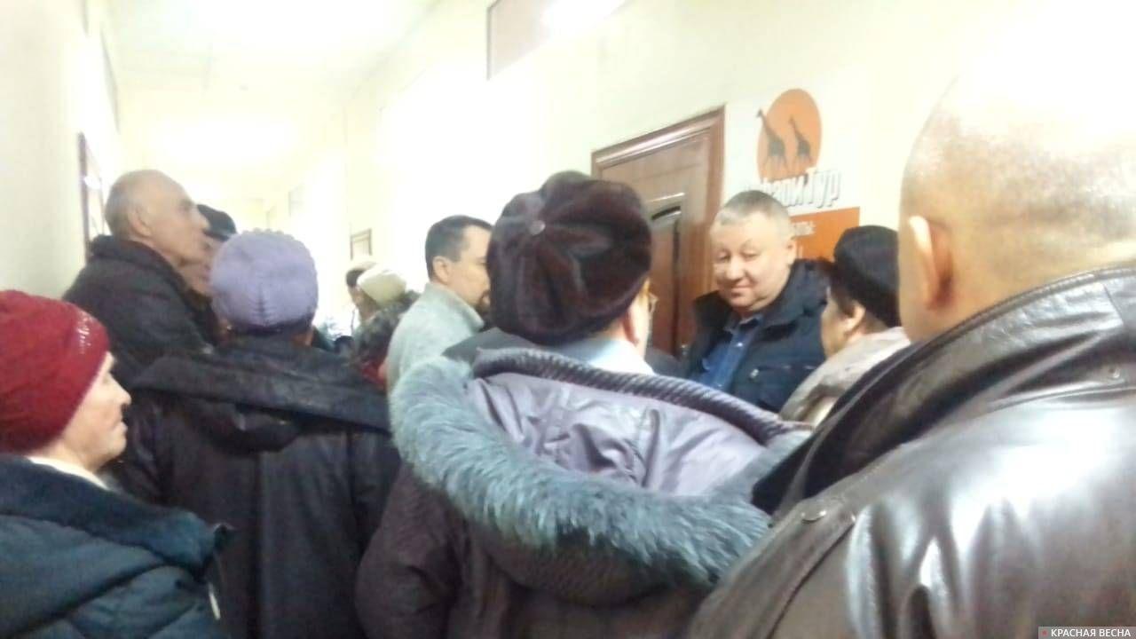 Очередь в офис «Экотранса», Таганрог