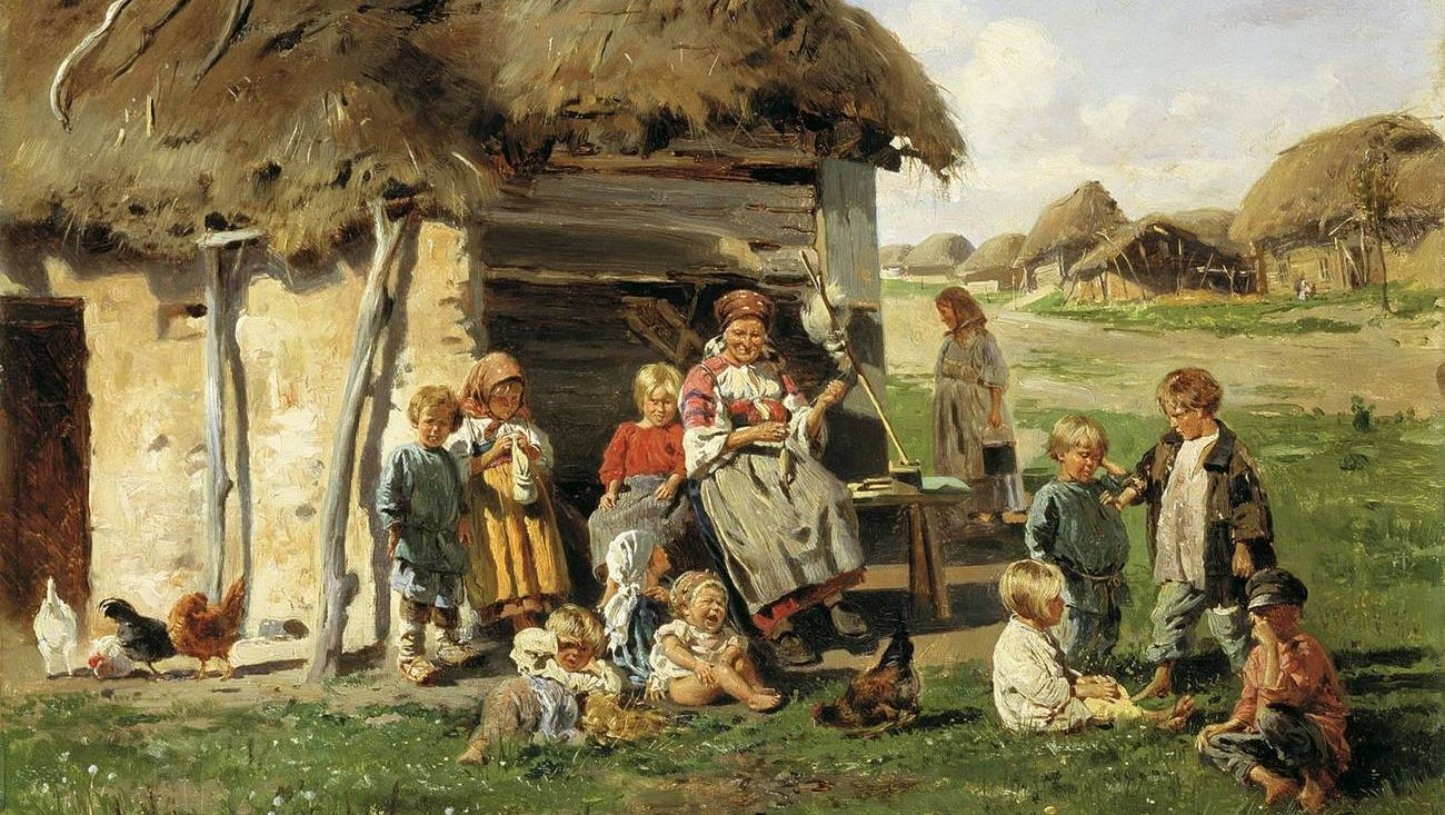 Маковский Владимир. Крестьянские дети. 1890.