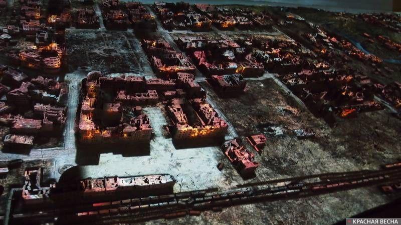 Сталинградская битва (макет). Волгоград
