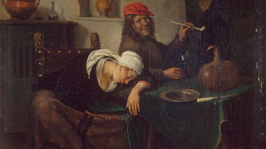Ян Стен. Гуляки (Пьяница). 1660