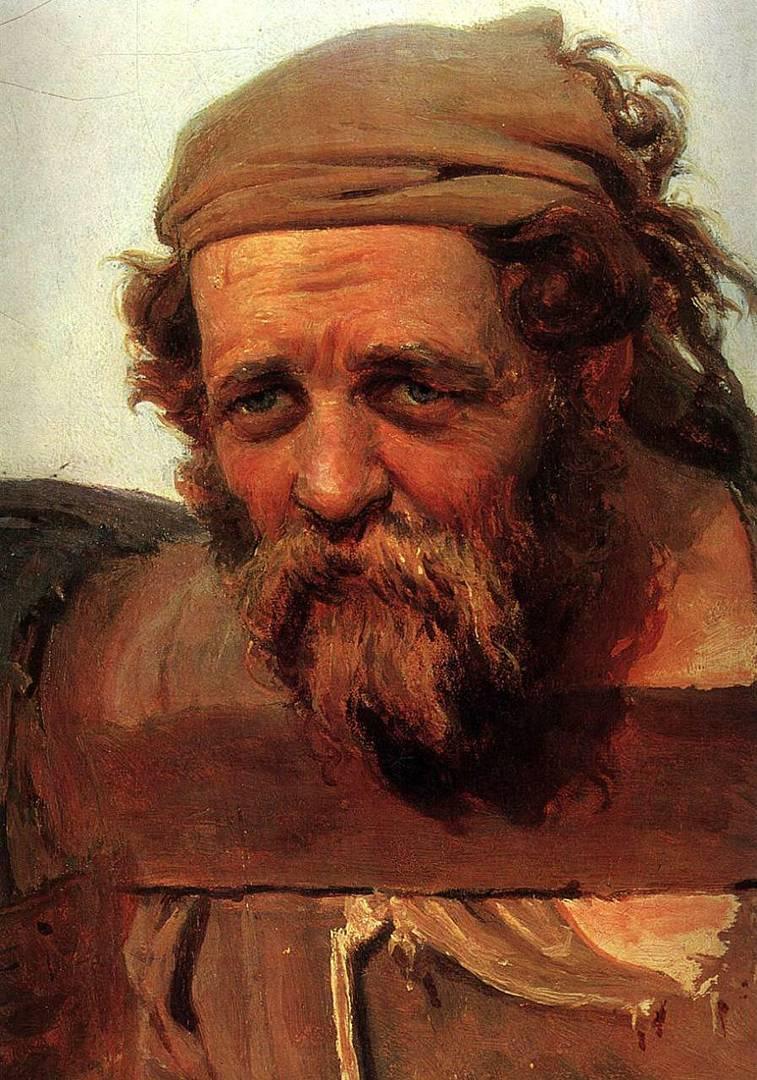 Илья Репин. Этюд к картине «Бурлаки». 1870–1873