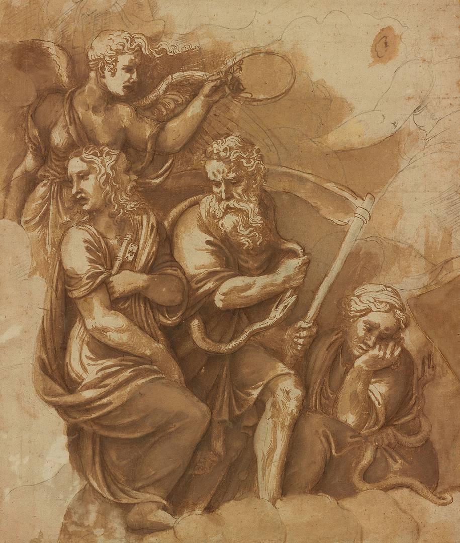 Религия. Джулио Романо. Победа, Янус, Хронос и Гайа. 1532–1534