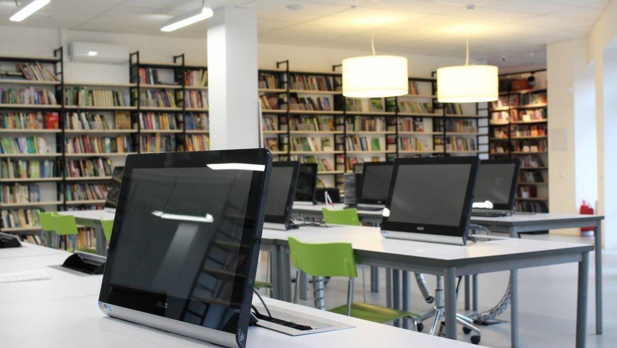 Библиотека с планшетами