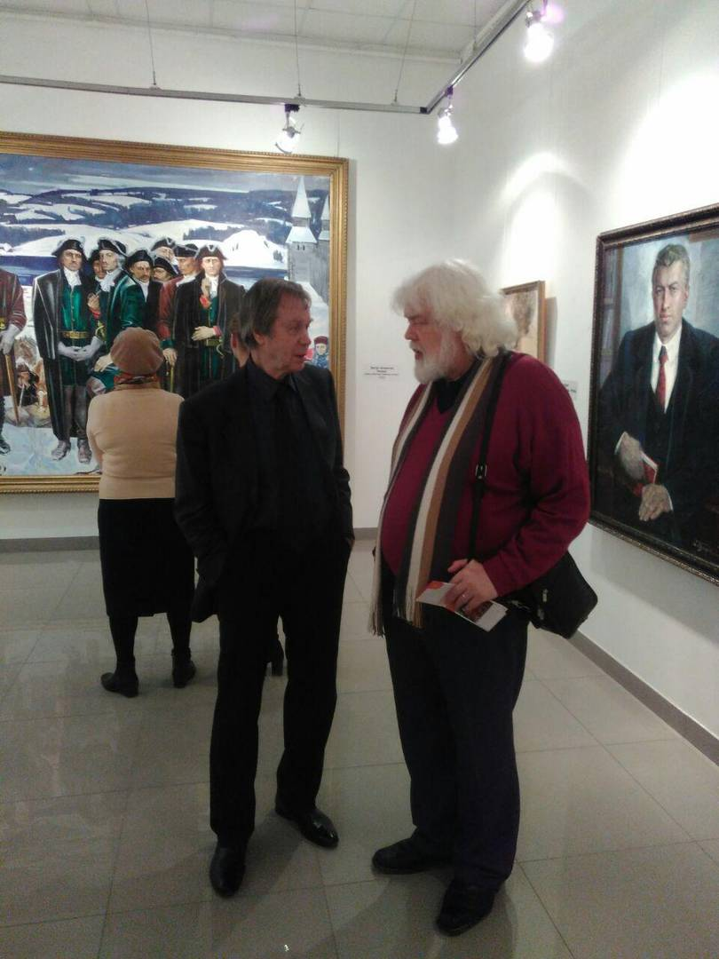 Георгий Сметанин и Игорь Тюленев на выставке Широкова