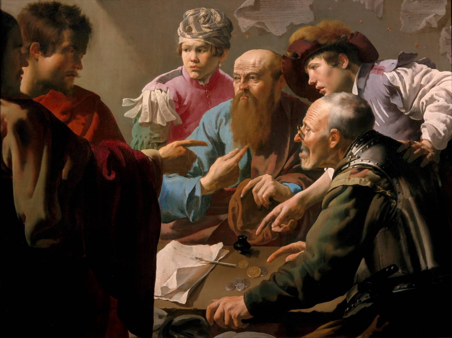 Хендрик Янс Тер Брюгген. Призвание апостола Матфея. 1621 год