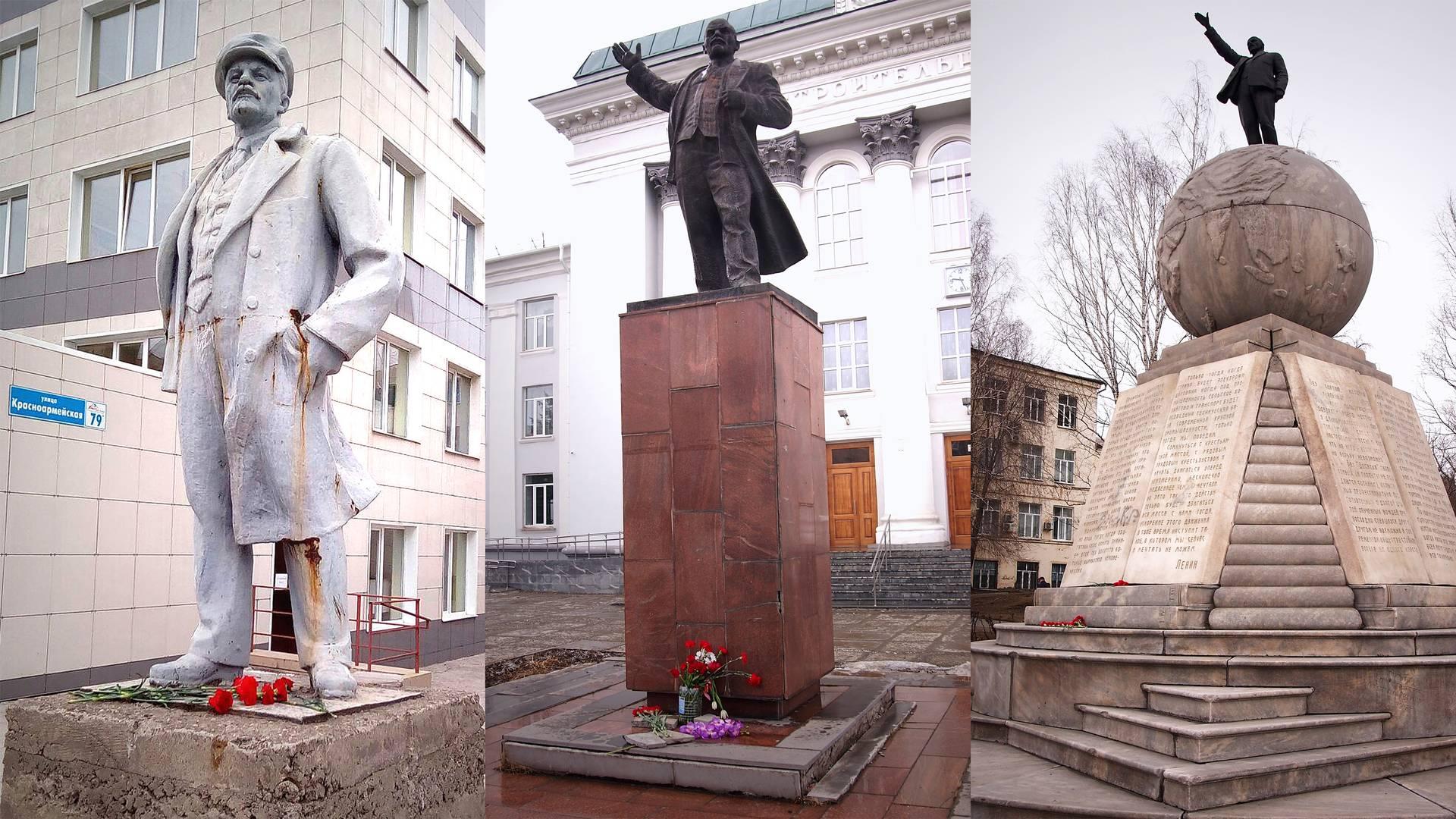 Возложение цветов к памятникам Ленина в Нижнем Тагиле 22 апреля 2018