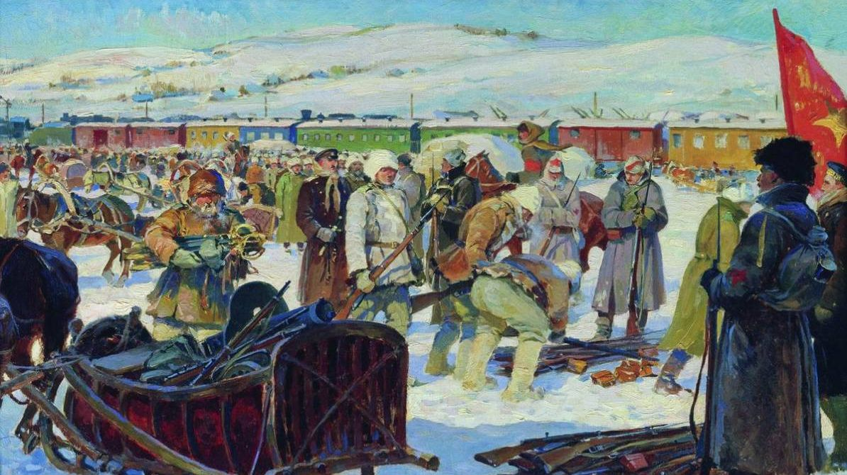 Михаил Авилов. Разоружение частей Колчаковской армии. 1926