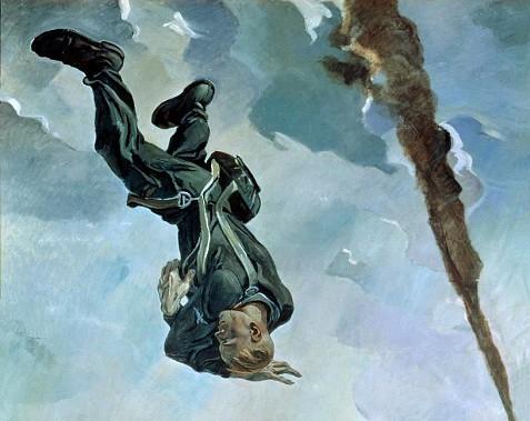 Александр Дейнека. Сбитый ас (фрагмент). 1943