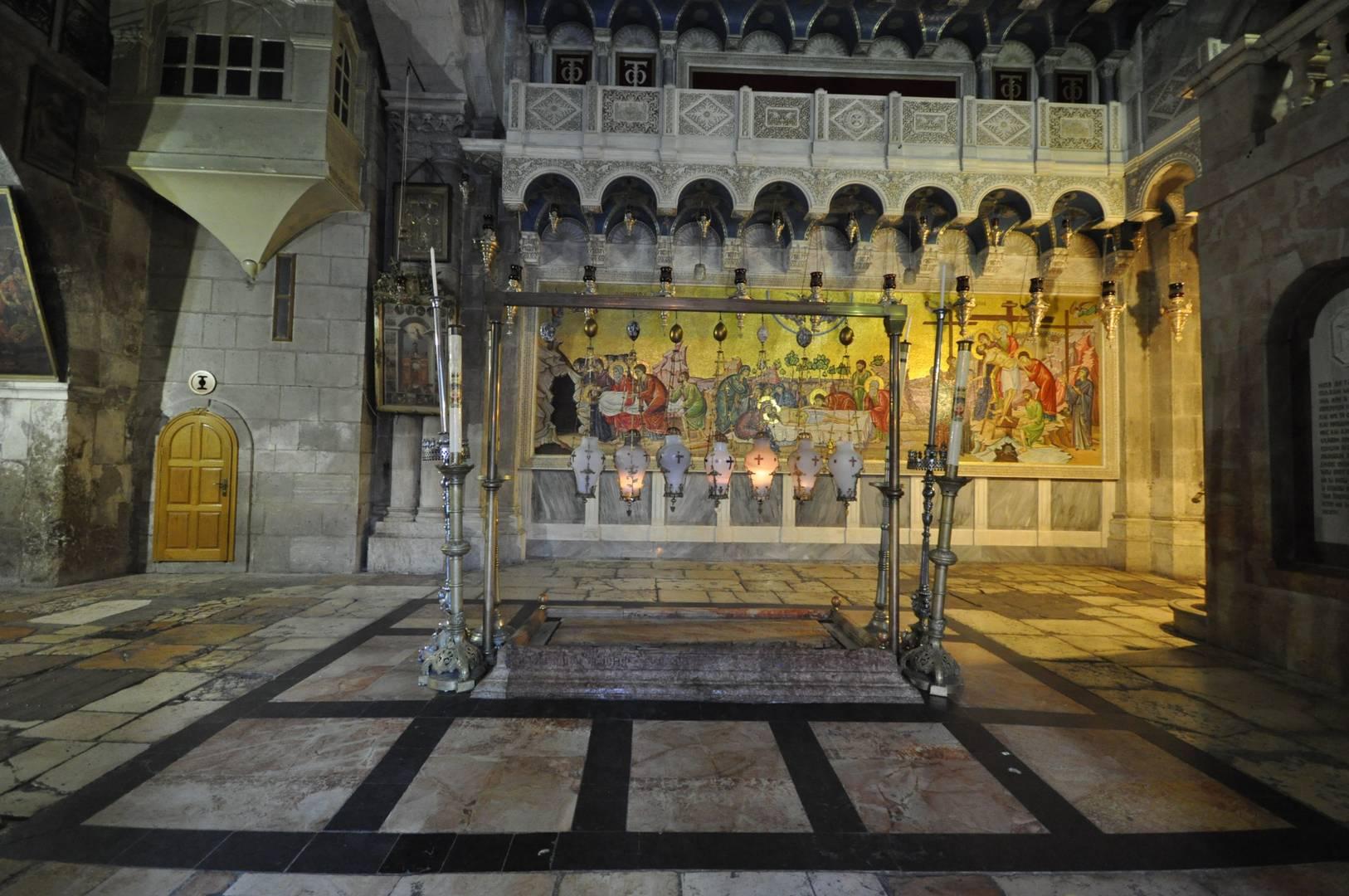 Камень помазания - Храм Гроба Господня