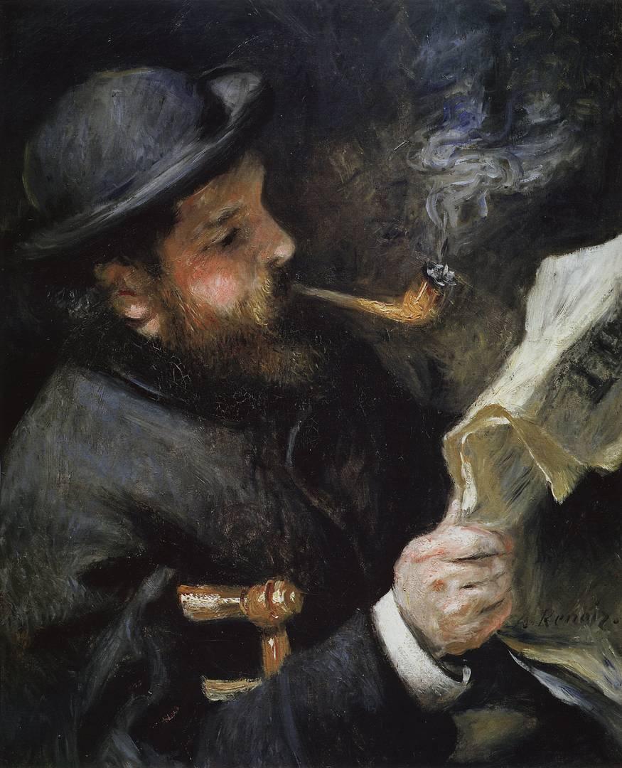 Пьер Огюст Ренуар. Клод Моне читает. 1872