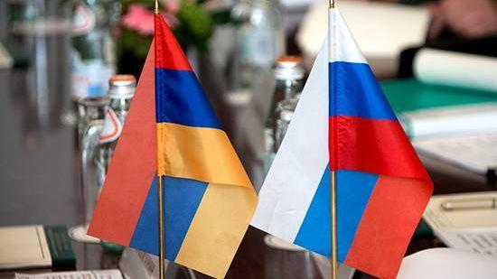 Флаги Армении и России