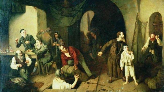 Александр Риццони. Контрабандисты. 1860