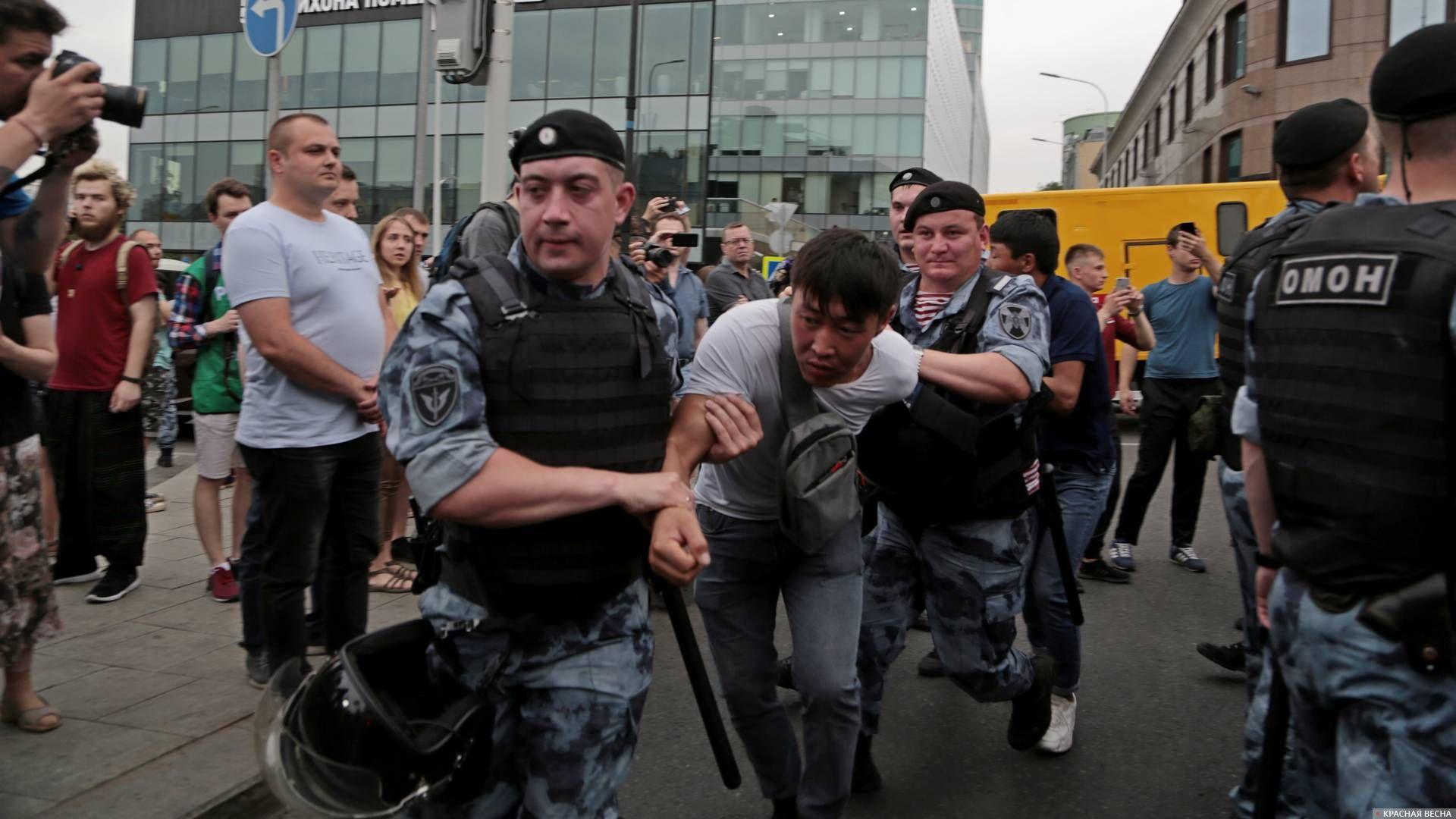 Задержание участников марша в поддержку Ивана Голунова