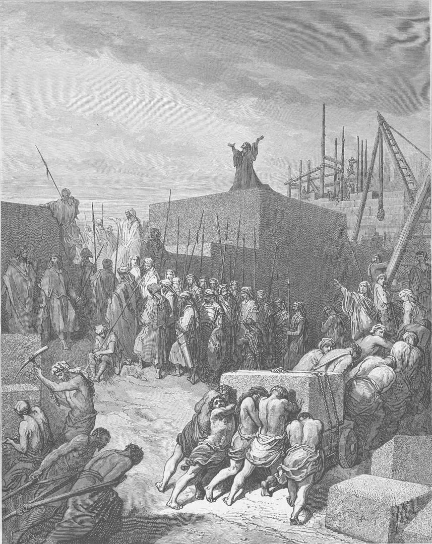 Гюстав Доре. Восстановление Храма. 1866